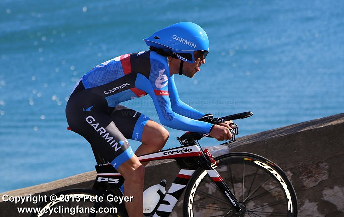 Sharp) competes in the 2013 Tour of the Mediterranean time trial
