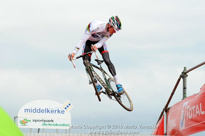Thumbnail Credit (cyclingfans.com) Mario Vanacker: 2015 World Champion Mathieu van der Poel at the 2015 Superprestige Cyclocross event at Middelkerke, Belgium - Click for high resolution - Copyright © 2015 Mario Vanacker