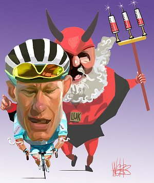 Alexandre Vinokourov and the devil